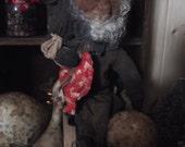 "Primitive Valentine OOAK Doll, Mr. Primlove 22"" handmade"