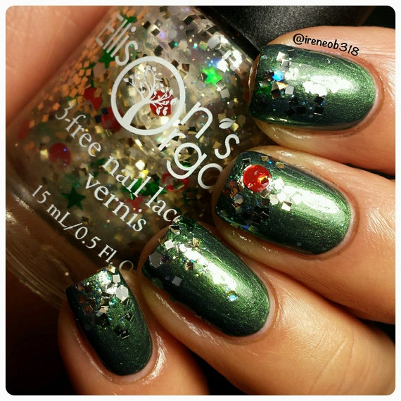 Christmas Nails Elf: Note To Elf Holiday Glitter Nail Polish By EllisonsOrganics