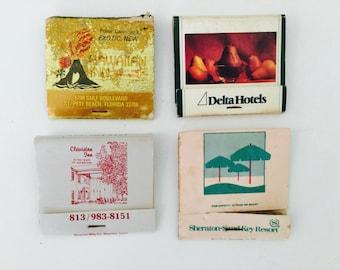 4 Vintage Hotel & Resort Used Matchbooks