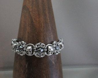 Skulls Romanov Chainmaille Bracelet