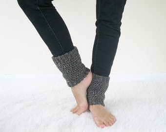 Wool Ankle Warmers   Crochet Boot Spats   Knit Boot Toppers   Wool Boot Cuffs