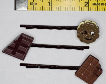 Chocolate Hair Pin Set