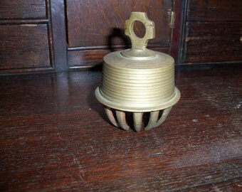 Vintage Brass India Cowbell Claw Cross