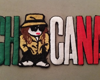 chicana embroidered patch