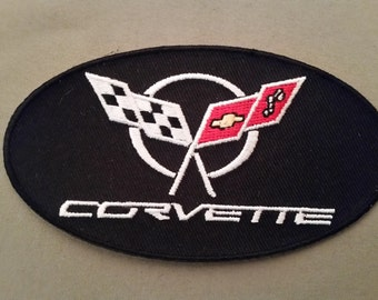 corvette oval embroidered patch