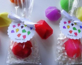 10 Diamond Soap Favors, Precious Stones, Birthdays, Special Occasions, Custom Favors