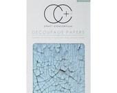 Craft Consortium Decoupage Papers - Blue Crack