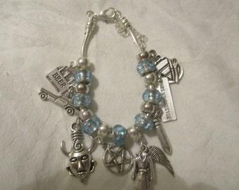 Supernatural inspired Dean Winchester European Charm Bracelet