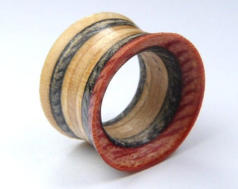 Recycled Skateboard, Pair of Tunnels, Plugs and Tunnels, Ear Gauges, Broken Skateboards, Wooden Plug, Wood Tunnel, Made to Order