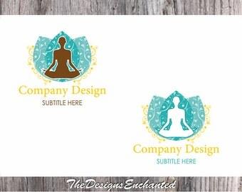 Logo Design OOAK Logo Premade Logo and Watermark Yoga Logo Meditation Logo Health Logo Custom Logo Business Logo Logo Designer Symbol logo
