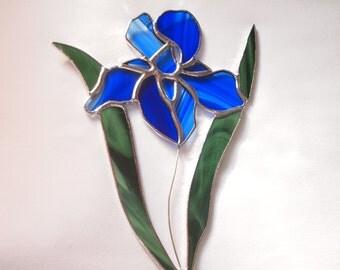 Stained Glass Iris Suncatcher