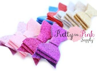 Layered Glitter Bows- You Choose Quantity- DIY Headband Supplies- Glitter Bows- DIY Hair Bows- Fabric Bow- Big Bows- DIY Craft