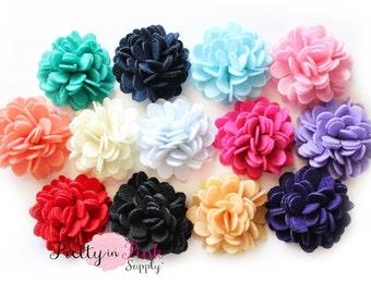 FELT Carnation Flower Puff Felt Rose Flower-You Choose Quantity-Diy Headband Supplies-Flower-Wholesale-Supply Shop- DIY Headband Supply