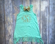 Monogram Baby clothes, Baby Beach Cover Up, Baby Girl Glitter Dress, Baby Girl Dress, Infant Tank Dress, Baby Girl Clothing, Baby Girl Gift,