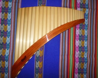 Professional Lupaca Panflute Natural  Bamboo 22 pipes from Peru- Item in USA