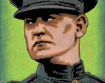 Michael Collins. Irish Revolutionary. Died in IRA Ambush 1922. by Jim FitzPatrick. Easter Rising, Easter1916, 1916 Rising, Irish, Ireland