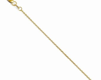 20 inch  14k Yellow Gold Flat Cable