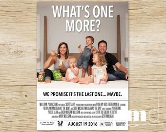 Pregnancy Announcement Card, Movie Poster Pregnancy Announcement, Movie Poster Pregnancy, Movie Poster Announcement, Facebook File PRINTABLE