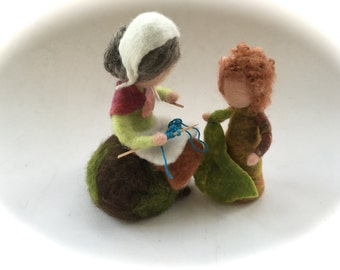 Mother earth.Root-child.Waldorf. Hand-felted. Needle felted .Waldorf.Seasonel.