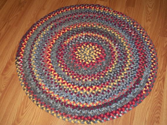 Custom Order Hit Or Miss Pattern Round Braided Wool Rug