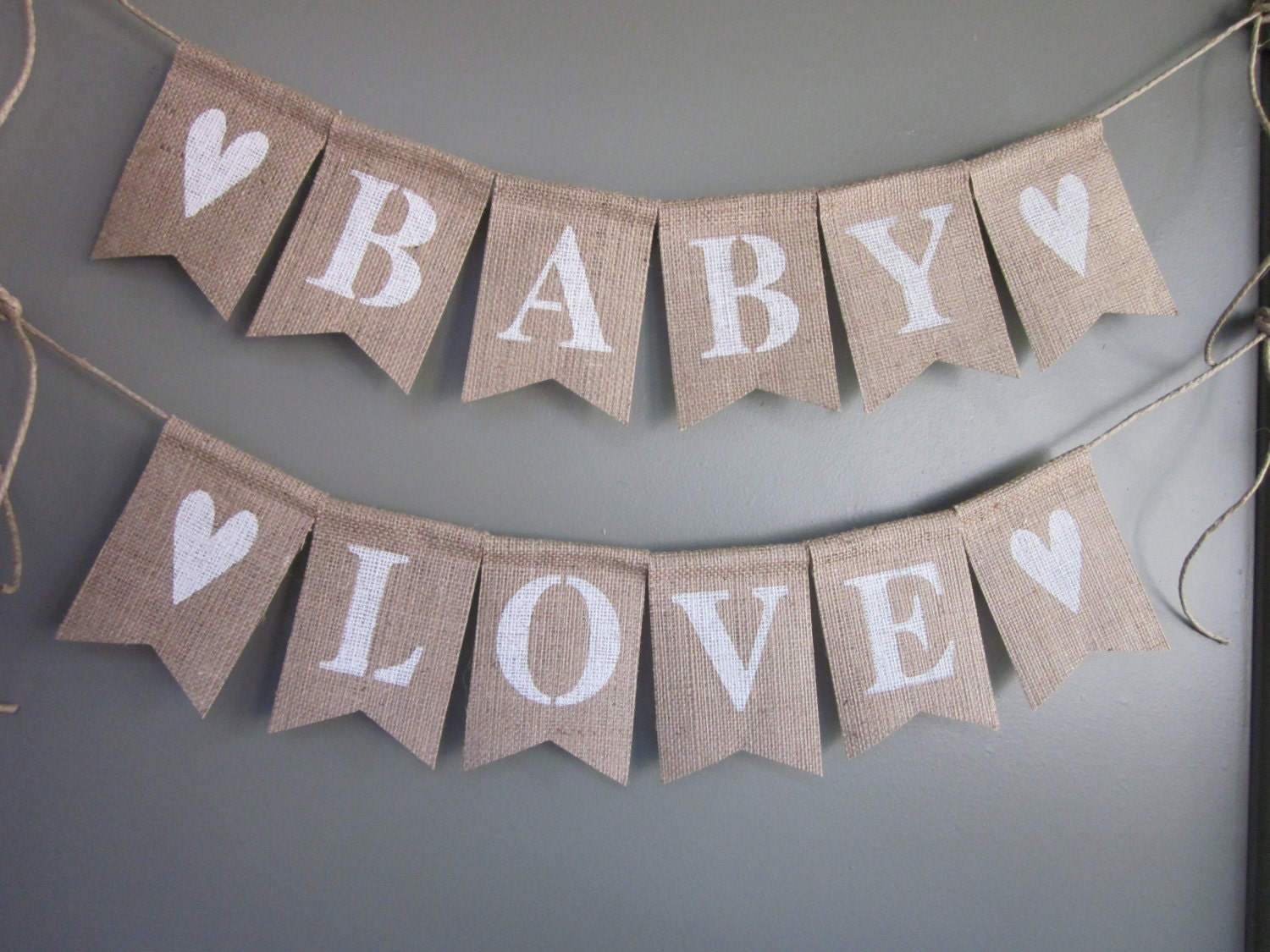 baby shower banner rustic chic burlap baby by quaintconfections
