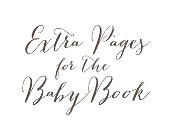 Extra Pages for the Hugs and Kisses XO Baby Memory Book
