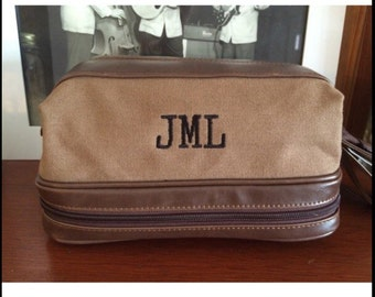Embroidered Mens Travel Toiletry Bag