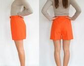 Simple Orange Shorts // Vintage // High Waisted (Size Medium)