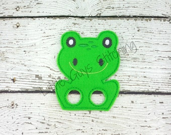 Frog finger puppet etsy for Frog finger puppet template