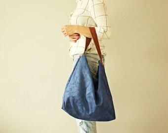 Soft Navy  Hobo  Bag