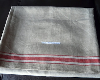 Vintage Mangel cloth, linen/flax fabric approx. 300cm in very good condition as new