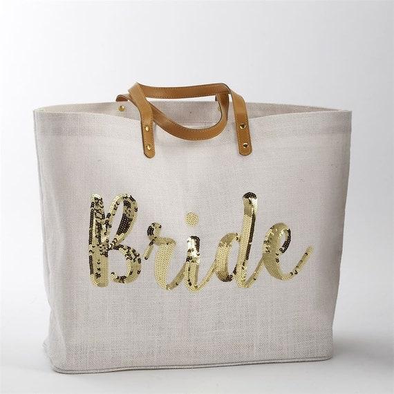 Bride Sequin Tote