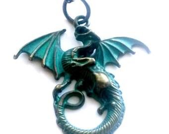 Rhaegal Dragon Necklace Steampunk Medieval Renaissance GOT Inspired Handmade Gift