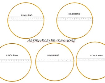 "Macrame Rings 7""/ 8""/ 9""/ 10"" or 12"" Dream Catcher Rings, Tree of Life Ring, Metal Rings, Mandela Ring"