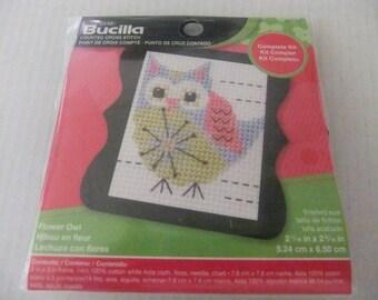OWL CROSS STITCH Kit/Bucilla Counted Cross Stitch Kit/