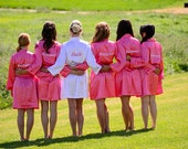 Bridesmaid and Bride Embroidered Robe Gifts for Bridal Party