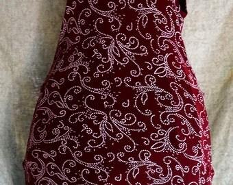 Vintage Jalate Limited Burgundy Evening Dress.