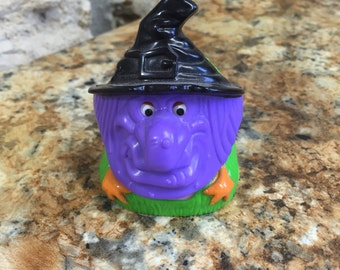 Halloween Witch Ronald and Pals 1996 Haunted Green Monster Mask Nerds Dispenser