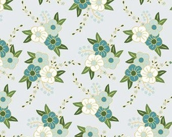 Baby Bedding Crib Bedding - Green, Teal, Gray Flowers