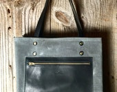 The Jayne Canvas Tote - Charcoal & Black