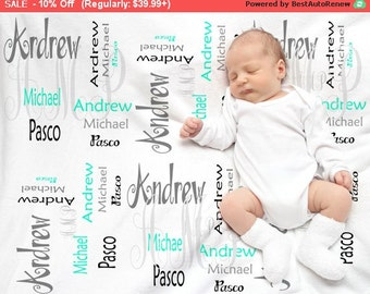Personalized Baby Blanket- Swaddle blanket- BP006