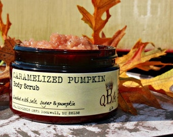 CARAMELIZED PUMPKIN Emulsified Body Scrub - With Salt,  Sugar & Pumpkin