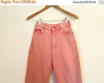 80s 90s Vintage Acid Washed Pink Lee Jeans High Waist Skinny Jeans Bubblegum Pink Small S