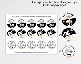 Halloween Tags and Labels, Halloween Tags, Halloween Stickers, Halloween Labels