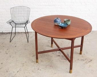 Mid Century Walnut Dining Room Table