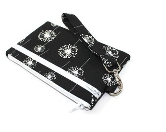Wristlet Wallet / Cell Phone Clutch  with Removable Strap