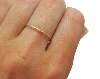 Thin Gold Ring, Stacking Ring