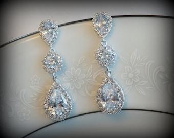 Crystal Chandelier Bridal Earrings Wedding Earrings Swarovski Wedding Earrings Chandelier Earrings Vintage Style Earrings Bridal Jewelry