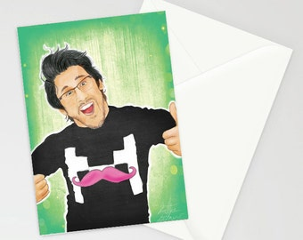 Markiplier A6 greetings card