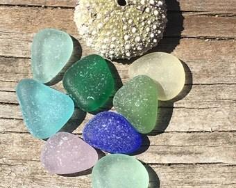 Flawless Genuine Sea Beach Glass, Jewelry Quality, Real, Vintage, Beach Gypsy, Mermaid Mystic, Beach Stones, Cobalt, Aqua, Yellow, Natural
